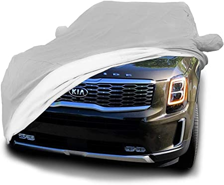 Black Covercraft Custom Fit Car Cover for Select Kia Amanti Models Fleeced Satin FS16546F5