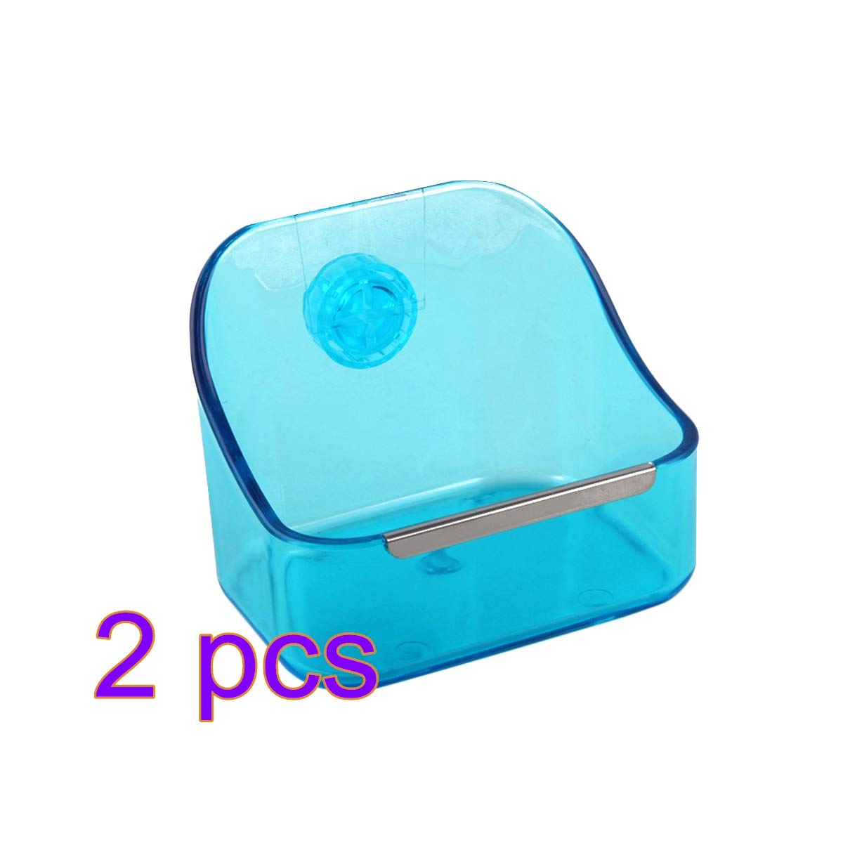 POPETPOP Rabbit Feeders Hanging-Upgraded 2-Pack Food/Water Bowl for Rabbit/Chinchilla/Guinea Pig Hamster Food Bowl Attaches to Cage - Best Bowl to Prevent Knocking Over