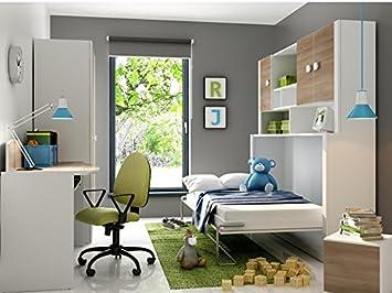 Etagenbett Schrankbett : Kinderbett schrankbett children foldaway bed inkl matratze in der