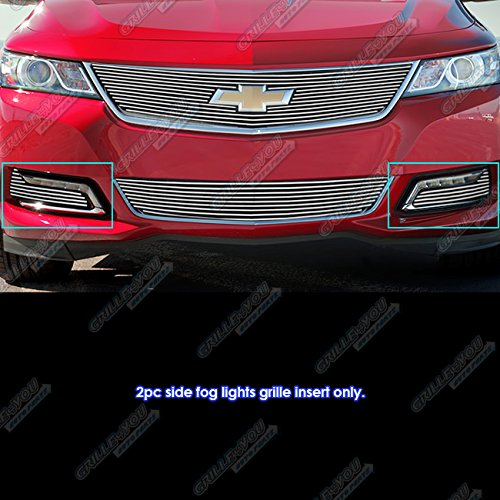 Impala Ltz (APS Fits 2014-2018 Chevy Impala LTZ Fog Light Cover Billet Grille Insert #C65947A)