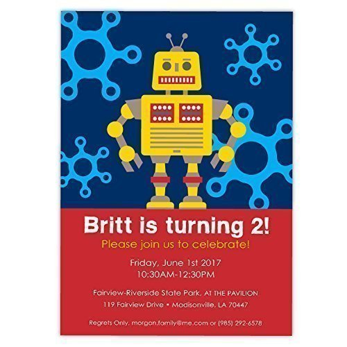Amazon com: Customized Funky Robots in Outer Space Birthday Party