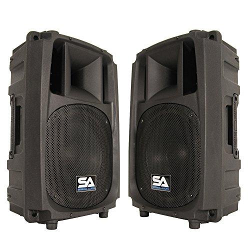 Seismic Audio S_Wave-10-Pair - Pair of 10'' 2-Way PA/DJ Speaker Cabinets - 10'' by Seismic Audio