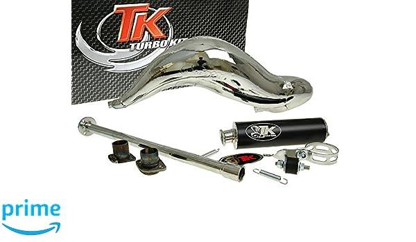 Turbo Kit de escape Carreras 80 cromo para Derbi GPR 50 (05 de): Amazon.es: Coche y moto