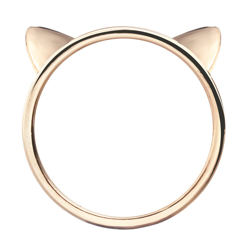 Qiandi Lovely Cat Bear Ear Animal Rings Midi Wedding Ring Sweet Jewelry Gift for Women Girls MNJZ00162-1