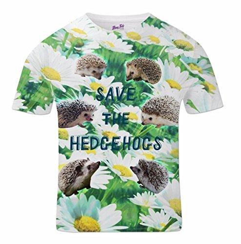 All Over Print Sublimation Druck T Shirt Grafik Shirts Herren Save The Hedgehogs 3D T-Shirts