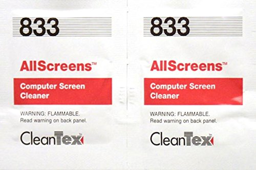 Cleantex Allscreens One Step Cleaning Wipes, Box of 100 W...