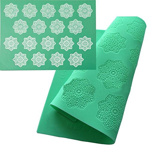 Nonstick Silicone Snowflake Lace Mat Pad Cake Fondant Mould Embossed Sugarcraft Mold DIY Mousse Baking Decorating Tools Gadgets