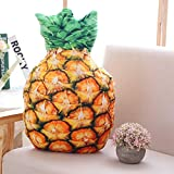 NIHAI 3D Simulation Pineapple Pillow, Really Interesting Vegetable Fruit Large Pillow Cushion, Food Plush Toy, Give Your Family and Friends A Good Gift- 50cmx35cm