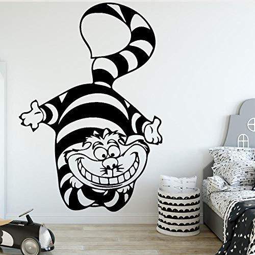 Cartoon cat Civet Wall Sticker Nursery Bedroom Animal Decal Home Accessories 58x84cm