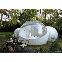 RelaxNow(TM) 2 Tunnel Transparent Bubble Tent Outdoor Inflatable Bubble Camping Tent - 1 Room + 1 Entrance + 1 Bathroom