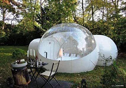 RelaxNow(TM) 2 Tunnel Transparent Bubble Tent Outdoor Inflatable Bubble C&ing Tent - 1 & Amazon.com : RelaxNow(TM 2 Tunnel Transparent Bubble Tent Outdoor ...