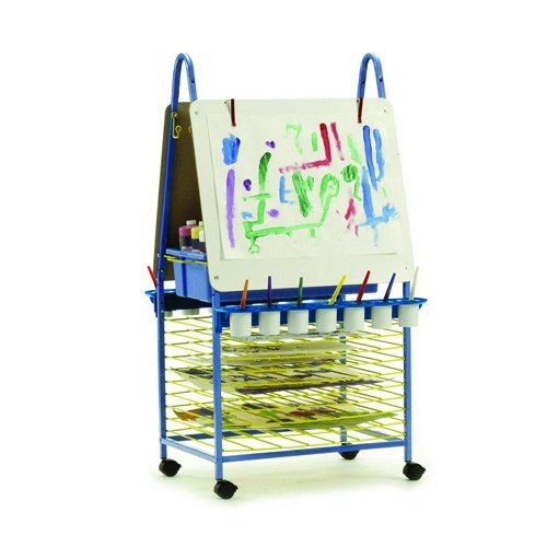 Double Sided Art Easel With 10 Built In Drying Racks