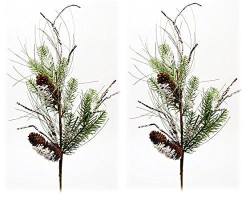 Pine, Pine Cone & Twig Christmas Sprays - Set of 2 (Pine Twig)
