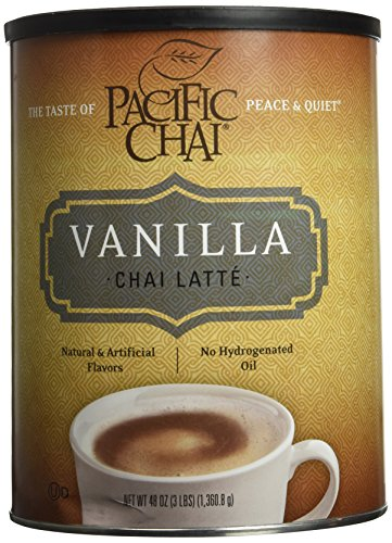 Pacific Chai Vanilla Instant Powdered Chai mix, 48oz canister Chai Latte Mix