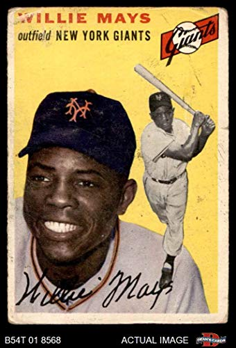 1954 Topps # 90 Willie Mays New York Giants (Baseball Card) Dean's Cards 1.5 - FAIR Giants (Card Willie Mays)
