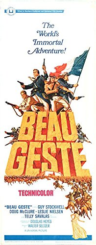 BEAU GESTE original 1966 14x36 insert movie poster GUY STOCKWELL/DOUG MCCLURE/TELLY SAVALAS