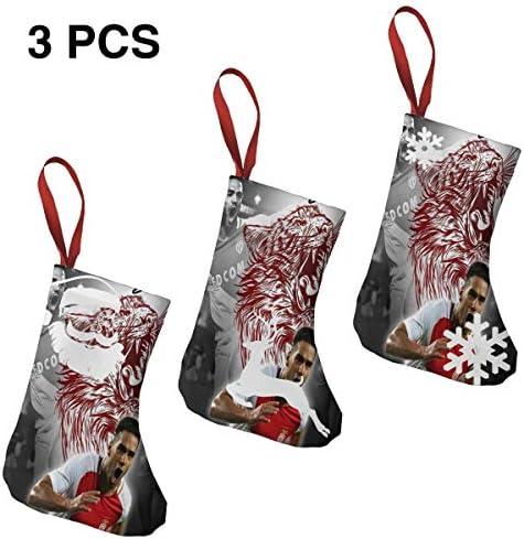 クリスマスの日の靴下 (ソックス3個)クリスマスデコレーションソックス モナコ クリスマス、ハロウィン 家庭用、ショッピングモール用、お祝いの雰囲気を加える 人気を高める、販売、プロモーション、年次式