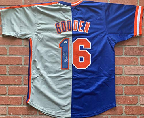 Doc Gooden autographed signed jersey MLB New York Mets PSA COA ()
