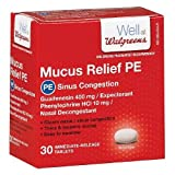 Walgreens Mucus Relief PE Sinus Congestion Tablets-30 ea