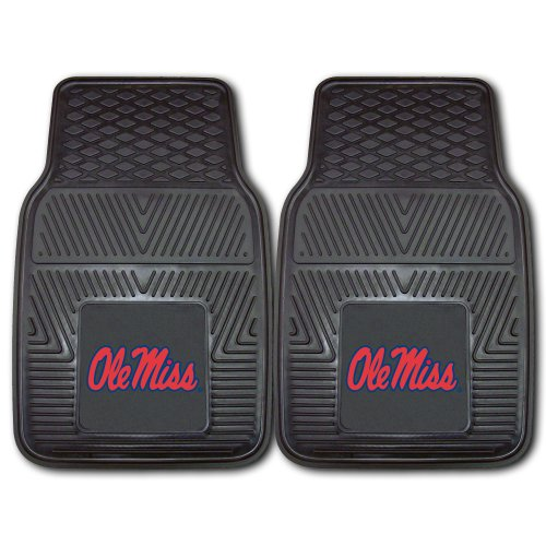 Fanmats 11778 University of Mississippi Rebels Front Row Vinyl Heavy Duty Car Mat - 2 - Malls Mississippi