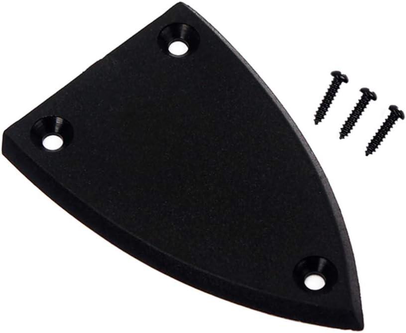 Healifty Cubierta de varilla de armadura de guitarra 3 agujeros triángulo cubierta de varilla de armadura de plástico para piezas de repuesto de bajo de guitarra eléctrica 2 piezas