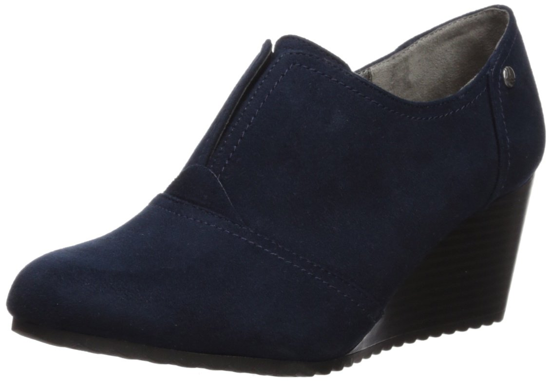 LifeStride Women's Punch Ankle Boot B075G5VFW6 11 W US|Navy