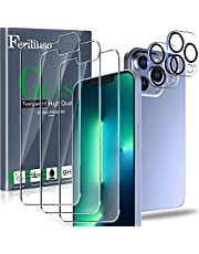 Ferilinso Designed for iPhone 13 Pro Screen Protector, 3 Pack HD Tempered Glass with 2 Pack Camera Lens Protector, Case Friendly, 9H Hardness, Bubble Free, 5G 6.1 Inch, Easy Installation