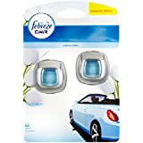 TWIN PACK FEBREZE CAR VENT CLIP ON AIR FRESHENER (Economy Pack) COTTON FRESH