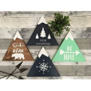 rustic nursery décor, woodland theme nursery, nursery signs, deer antler décor, arrow décor YOU PICK QUOTE