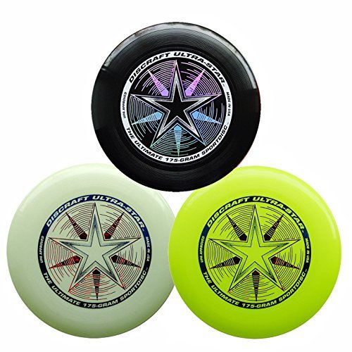 Discraft 175g Ultimate Disc Bundle (3 Discs) Black, Yellow & Glow by Discraft