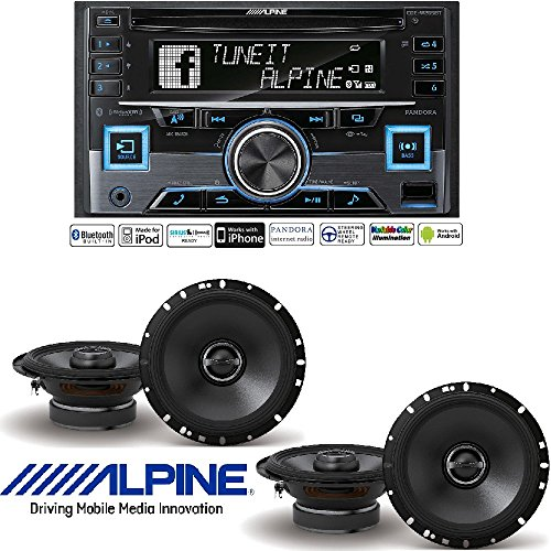 Alpine CDE-W265BT, Double DIN CD Car Stereo w/Bluetooth, USB
