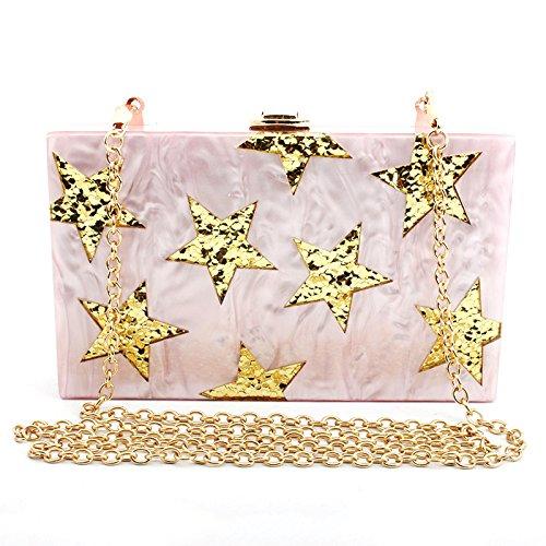Pink Bags Elegant Bag Bag Women's Bag Wedding Shoulder Clutch Handbag Clutch Evening Party Chain Bag v8P6Z