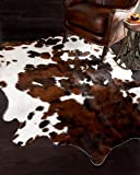 A-STAR (TM) Genuine Cowhides Brown And White - Cowhide rug (5 x 4)