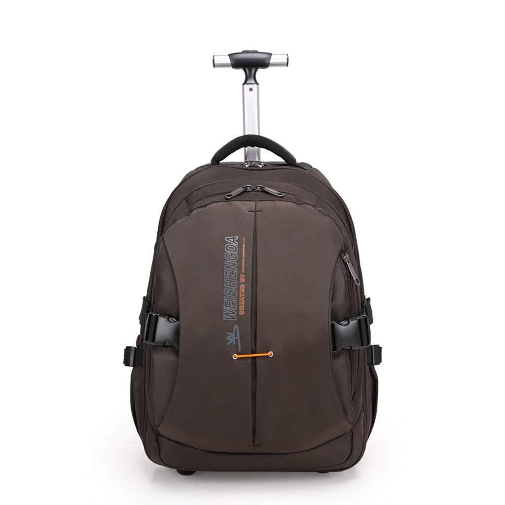 学校のラップトップバッグを旅する少年のためのトロリーバックパック大容量ストレージウィールドローリングバックパック防水旅の荷物 Small  B07NMRMY5H