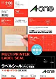 100 sheet A4 21 face-One (A-one) label seal [printer combined use] White mat paper (2,100 pieces) 31538 (japan import) by Aone