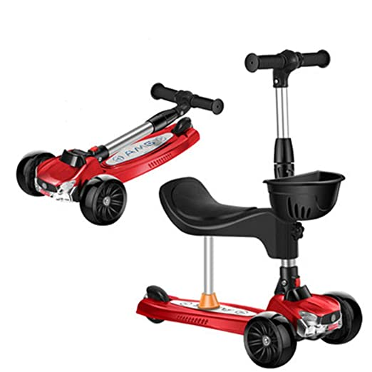 JIASHU Scooter 3 en 1 para niños pequeños, Patinete para ...