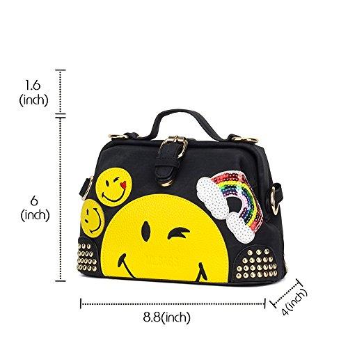 CMK Trendy Kids Girls  Emoji Purse and Handbags for Teens - Import It All b05cd79ae8320