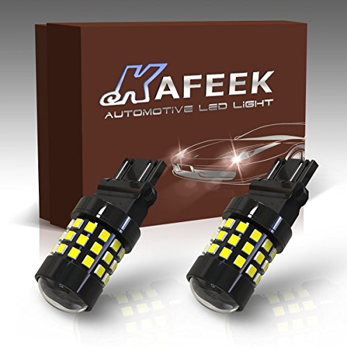 KAFEEK 2xSuper Bright 3056 3156 3057 3157 3156CK/3157CK LED Bulbs Dual Function 42 SMD LED,White