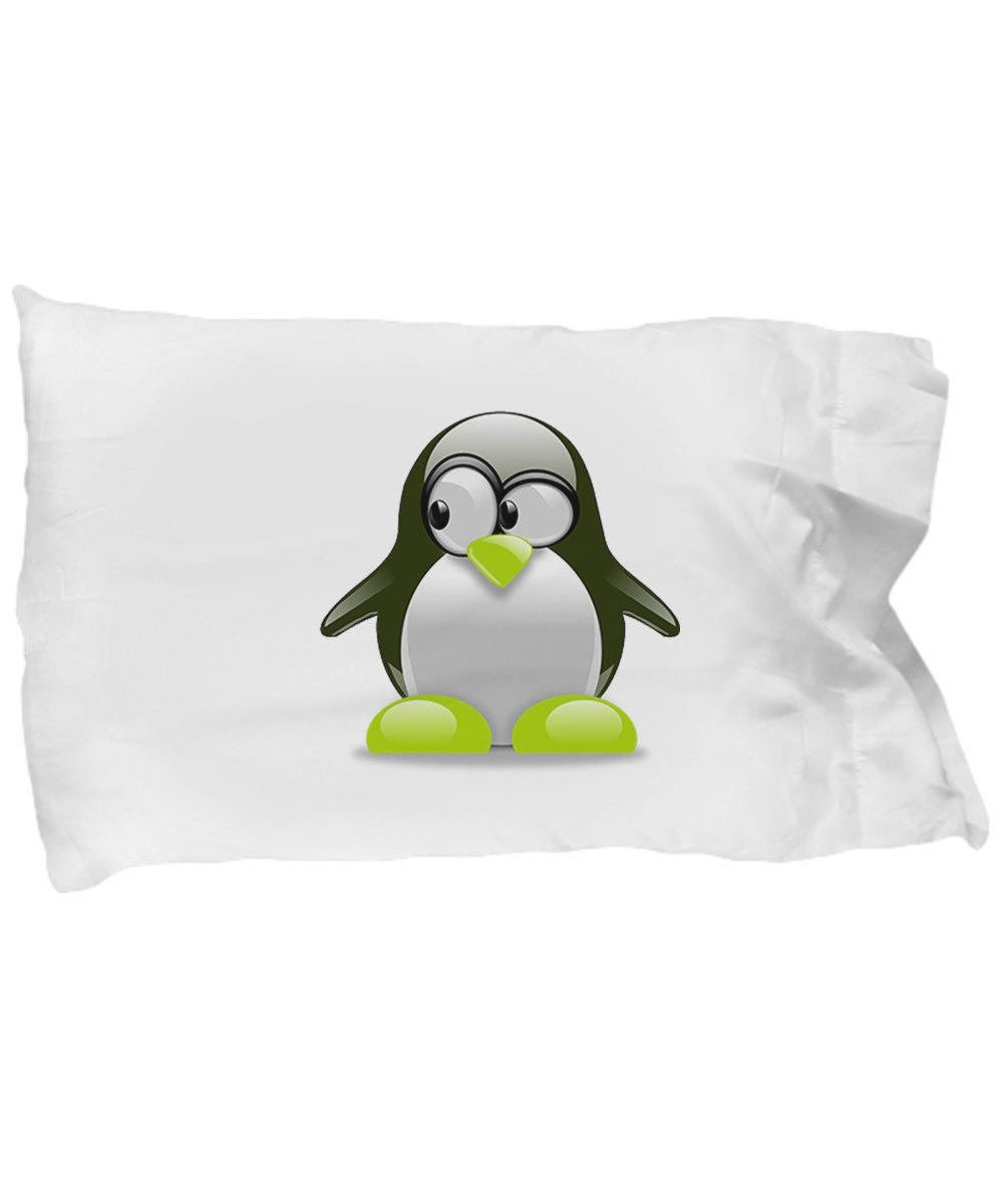 CUTE PENGUIN PILLOWCASE FOR KIDS, Standard Printed Pillow Case For Penguins Lovers Bed Decor, Super Soft And Fun Gift For Birthday-Christmas-Bedroom Decorating, Teens And Adults