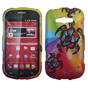 NEXTKIN Snap On Hard Crystal Protector Cover Case For Samsung Galaxy Reverb M950 - Colorful Turtle