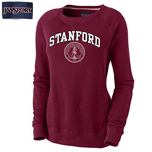 Jansport Women's Stanford Cardinals Crewneck Sweatshirt-Cardinal
