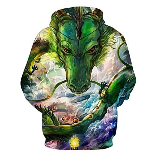 Imprimer Avec Kangourou Dragon 3d 19 À Sweat Ball Hommes Poche Chenma Capuche Pull Couleur xIpqRy4
