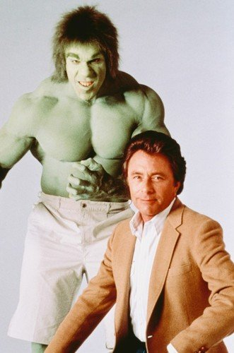 bill bixby and lou ferrigno in the incredible hulk 24x36 poster tv