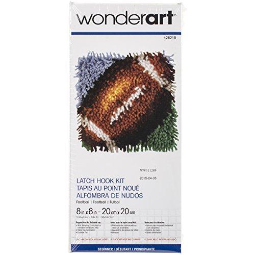 Wonderart Football Latch Hook Kit, 8
