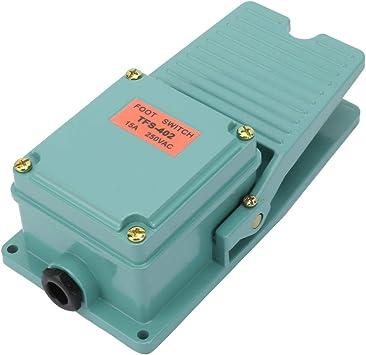 TFS-402 Anti-Rutsch Fusstaster-Fusspedal-Fussschalter Aluminium 15A 250V IP62