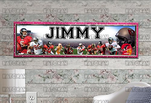 Customized Name Painting Tampa Bay Buccaneers Poster With Your Name On It Personalized Banner With Hard Frame (Tampa Bay Buccaneers Picture Frame)
