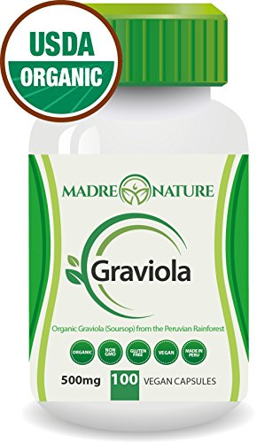 Organic Graviola Soursop Supplement Capsules product image