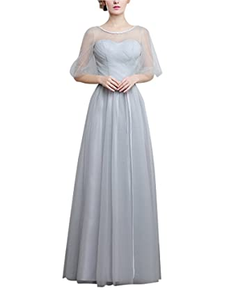 ShiFan Womens A-Line Bridesmaid Dresses Prom Gown Formal Party Wedding Bridesmaid Tulle Dresses A S