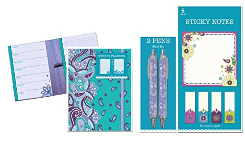 Assorted Elegant Floral Stationary Accessories