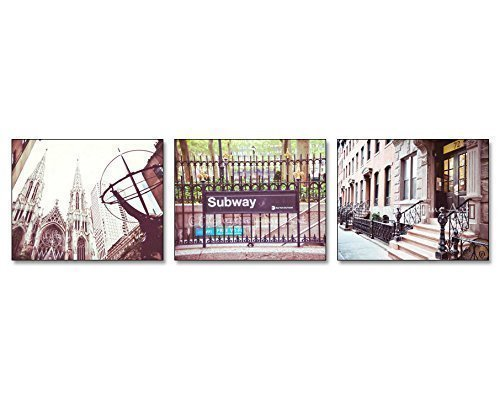 Set of 3 New York City Scenes urban decor 5x7 inch prints by Audra Edgington Fine Art